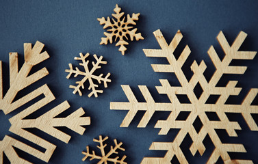 Hand made winter holidays background