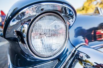 Front light of retro classic car Oldtimer