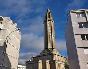 Eglise Saint Joseph. Le Havre. Normandie. France.