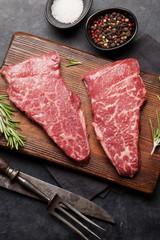 Wall Mural - Raw marbled beef steak
