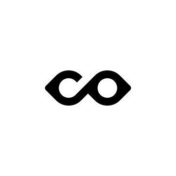 Logo Letter Co Monogram Design.