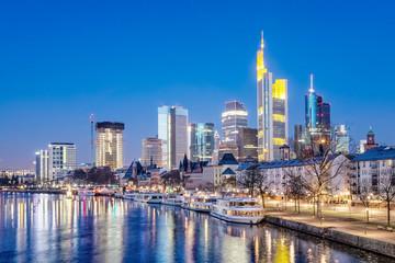 Frankfurt am Main, River, Tour Boats, Quay, Skyline, Germany