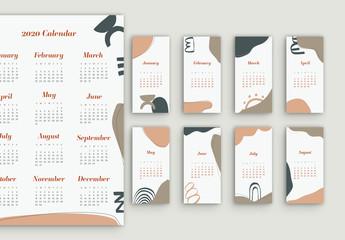 Abstract Calendar Set