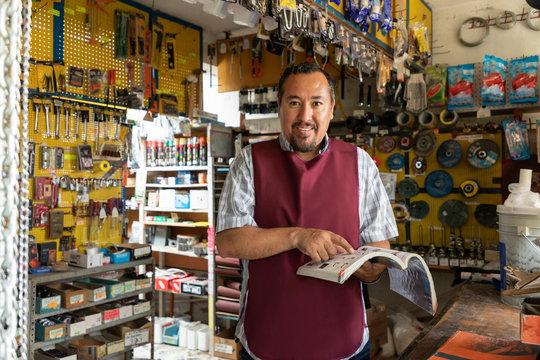 Portrait of mature latin entrepreneur man