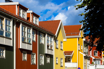 Colourful houses in Kampen, Oslo, Norway Fototapete