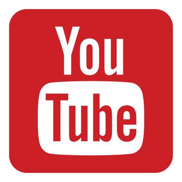 VORONEZH, RUSSIA - NOVEMBER 21, 2019: YouTube logo square icon in red color