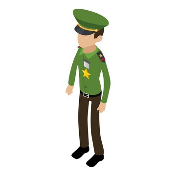 Army general icon. Isometric illustration of army general vector icon for web