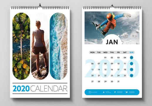 2020 Wall Calendar Layout