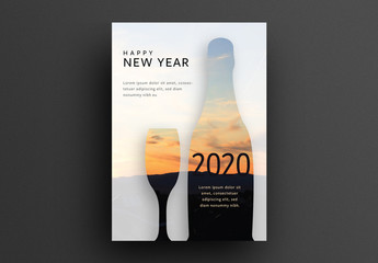 New Year's Greeting Card Layout