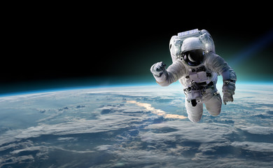 Fotorolgordijn Nasa Concept of conquering the universe by the human race. Elements of this image furnished by NASA