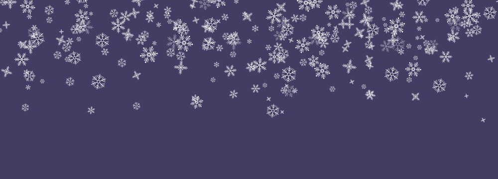 Snowflakes falling from the sky