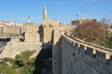Jerusalem, Tower of David in the Old City.