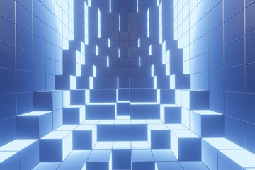 abstract background with squares or blocks