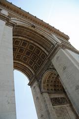 Paris, France - August 19, 2018: triumphal arch called arc de tr