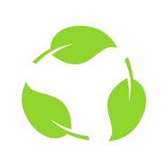 Biodegradable recyclable plastic free package icon. Vector bio recyclable degradable label logo template