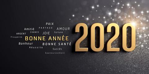 Fotorollo Positive Typography Carte de voeux 2020