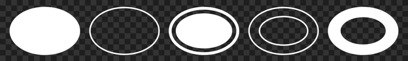 Label Oval White | Logo Sticker | Emblem | Icon | Variations