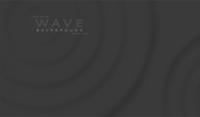 Abstract Black Waves Background