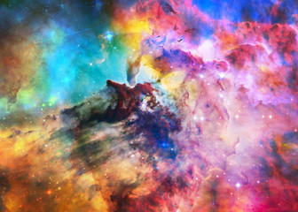Keuken foto achterwand Heelal The Lagoon Nebula in bright colours. Deep space look. Science fiction wallpaper. Elements of this image were furnished by NASA.