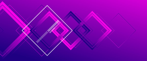 Abstract background with simple square or rectangle geometrical shapes. Geometric template with fluid gradients. Line design, technology concept. Vector Illustration For Wallpaper, Banner Background Fotomurales