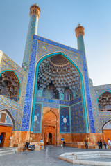 Gorgeous view of entrance iwan of the Shah Mosque, Isfahan