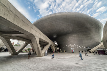 Gorgeous view of the Dongdaemun Design Plaza, Seoul, South Korea
