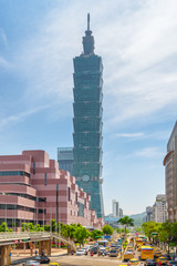 Fabulous view of Xinyi Road and Taipei 101, Taiwan
