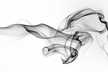 Wall Murals Smoke Black smoke motion on white background, fire design