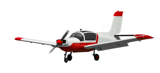 Sports aeroplane isolated on a clean white background