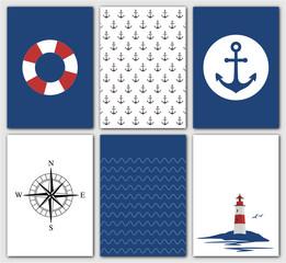 maritime Postkartenserie