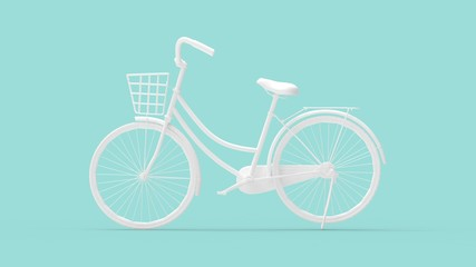 3d rendering of a bicycle isolated in a studio background