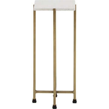 Solid Brass Tapered Leg Beveled Glass, end table side tables small regency gold leaf white top cover with white background