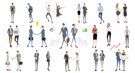 Illustration material: people, business scene, fashion Fotomurales