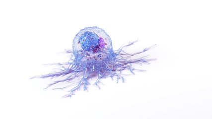 3d rendered illustration of the anatomy of a cancer cell