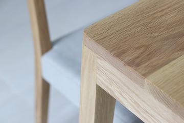 Obraz Close up wooden furniture, Oak wood Chair, Furniture detail for interior - fototapety do salonu