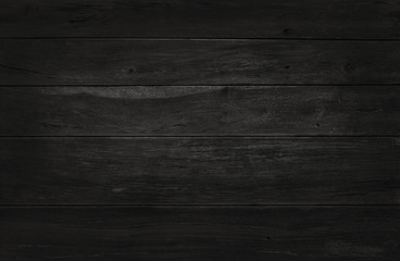 Black wooden wall background, texture of dark bark wood with old natural pattern for design art work, top view of grain timber.