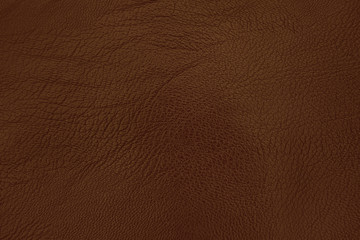 Deurstickers Leder Dark brown leather texture background with seamless pattern and high resolution.