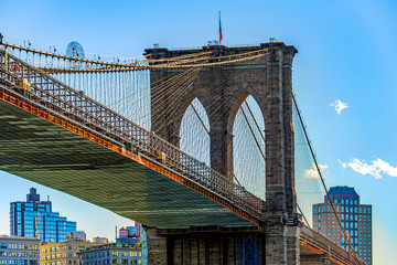Foto auf Gartenposter Brooklyn Bridge Brooklyn Bridge New York City USA