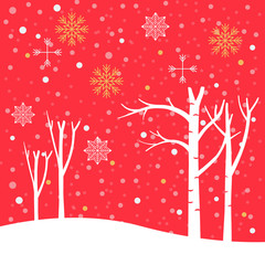 Christmas poster winter background