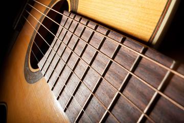 Closeup Image Of Guitar Fingerboard