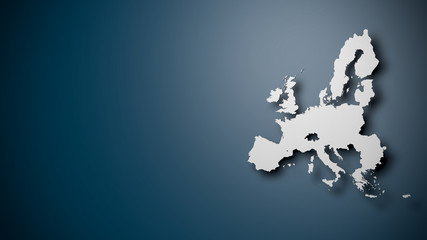 Map of the European Union on blue Background