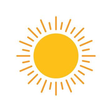 sun hot flat style icon