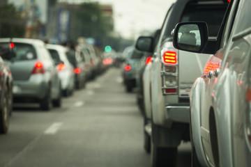 Fotomurales - traffic jam on road rush hour