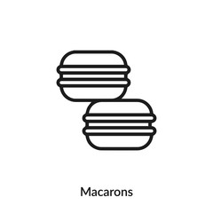 Spoed Foto op Canvas Macarons macarons icon vector. macarons icon vector symbol illustration. Modern simple vector icon for your design. macarons icon vector