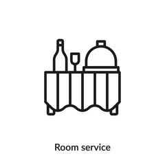 room service icon vector sign symbol