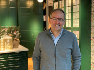 Juvencio Maeztu, Chief Financial Officer at Ingka Group, which owns most of IKEA stores worldwide, poses for a picture at an IKEA kitchen showroom and planning studio in the centre of Stockholm