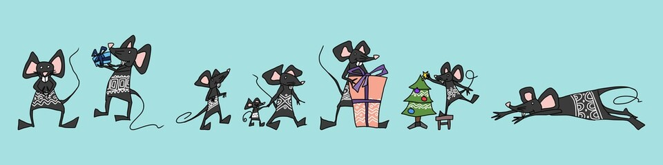 rats bright kind characters selection. picture