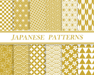 Printed roller blinds Pattern 和柄パターン セット 03