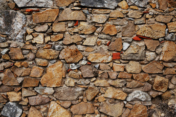 Background in the form of an old brick wall