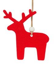 Christmas reindeer on white